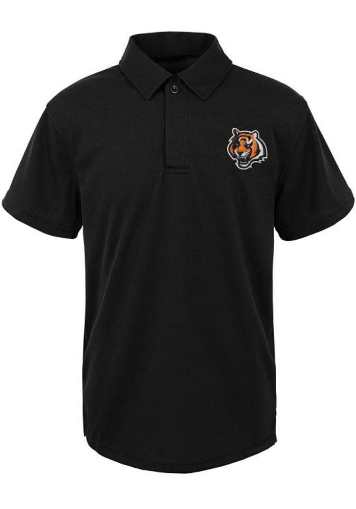 Cincinnati Bengals Youth Black Primary Polo
