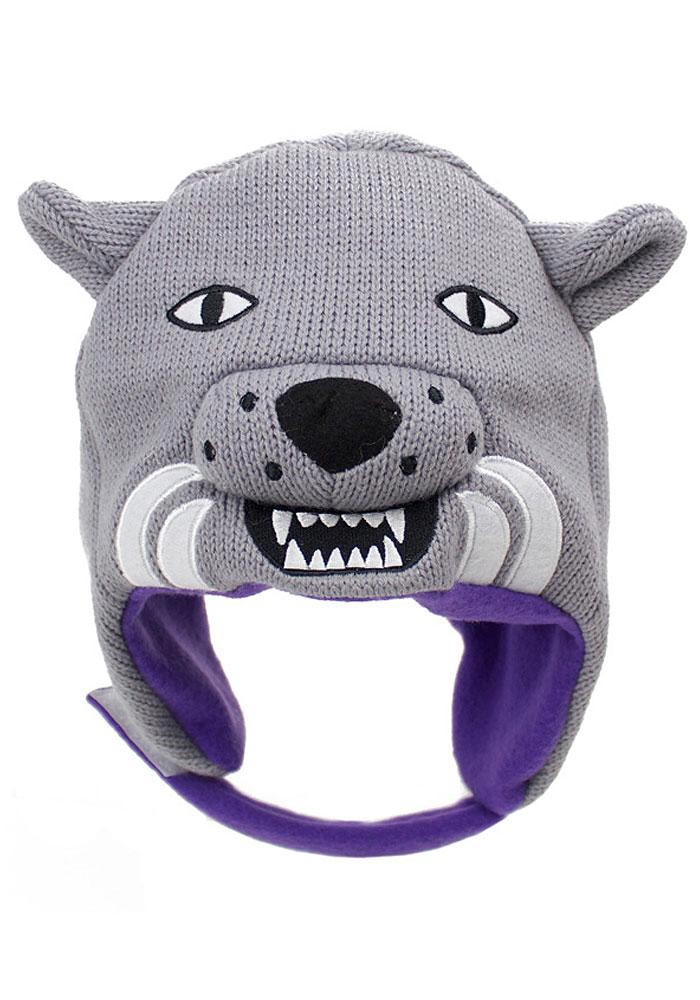 K-State Wildcats Grey Infant Baby Knit Hat - Image 1