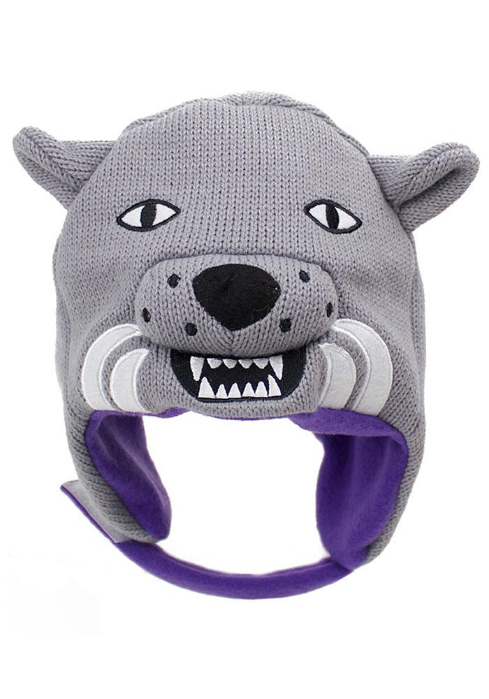 K-State Wildcats Grey Infant Baby Knit Hat - Image 2