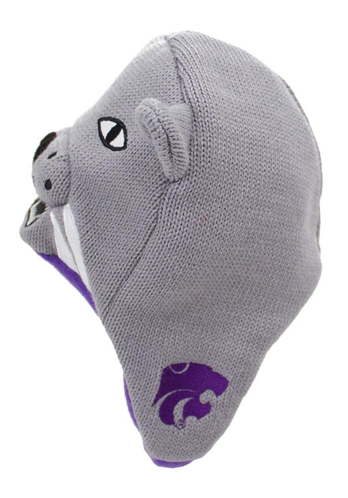 K-State Wildcats Grey Infant Baby Knit Hat - Image 3