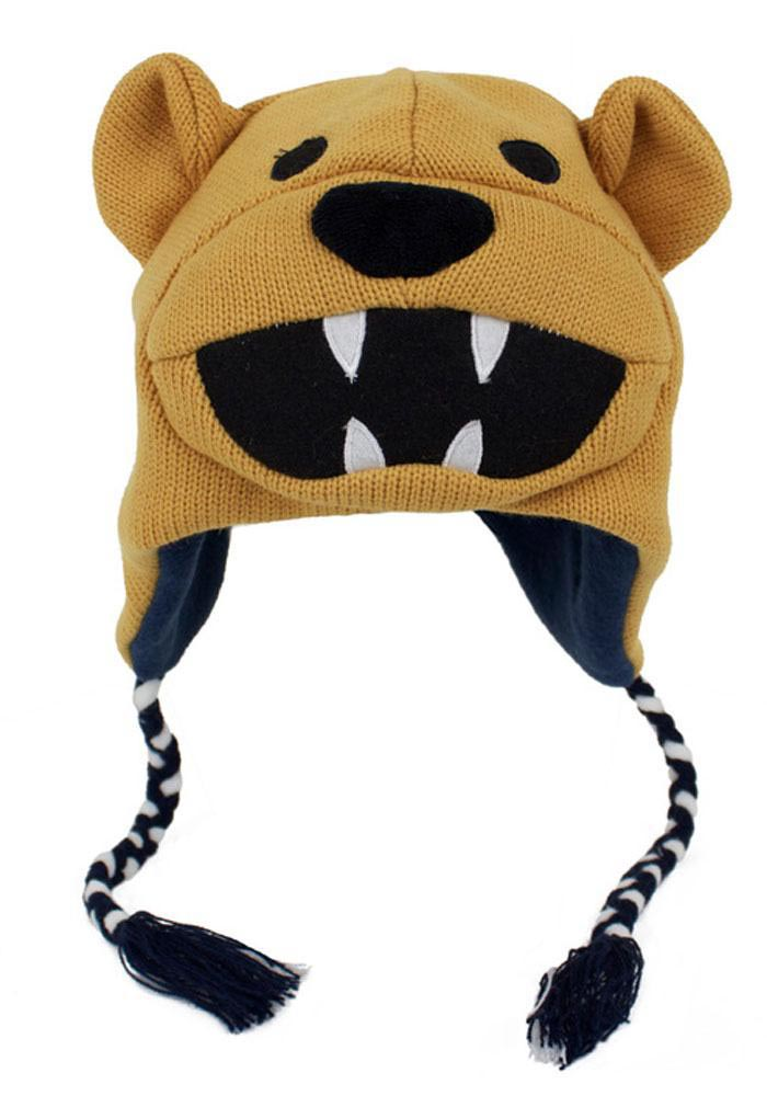 Penn State Nittany Lions Brown Mascot Mens Knit Hat - Image 1
