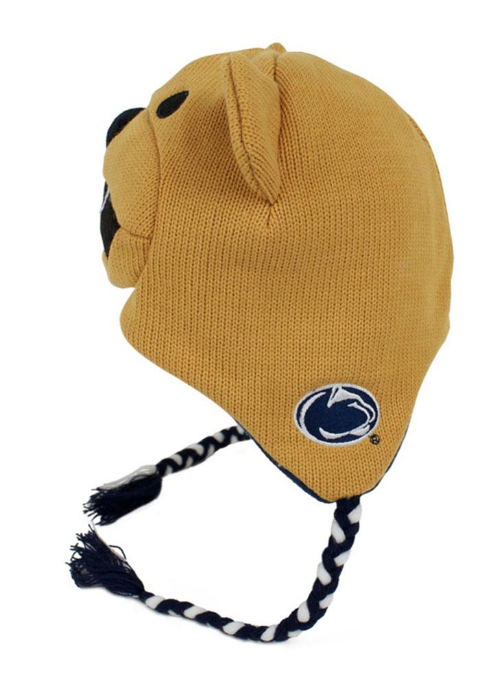 Penn State Nittany Lions Brown Mascot Mens Knit Hat - Image 3