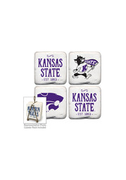 K-State Wildcats Vintage Logo 4 Pack Tumbled Stone Coaster
