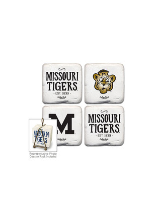 Missouri Tigers Vintage Logo 4 Pack Tumbled Stone Coaster