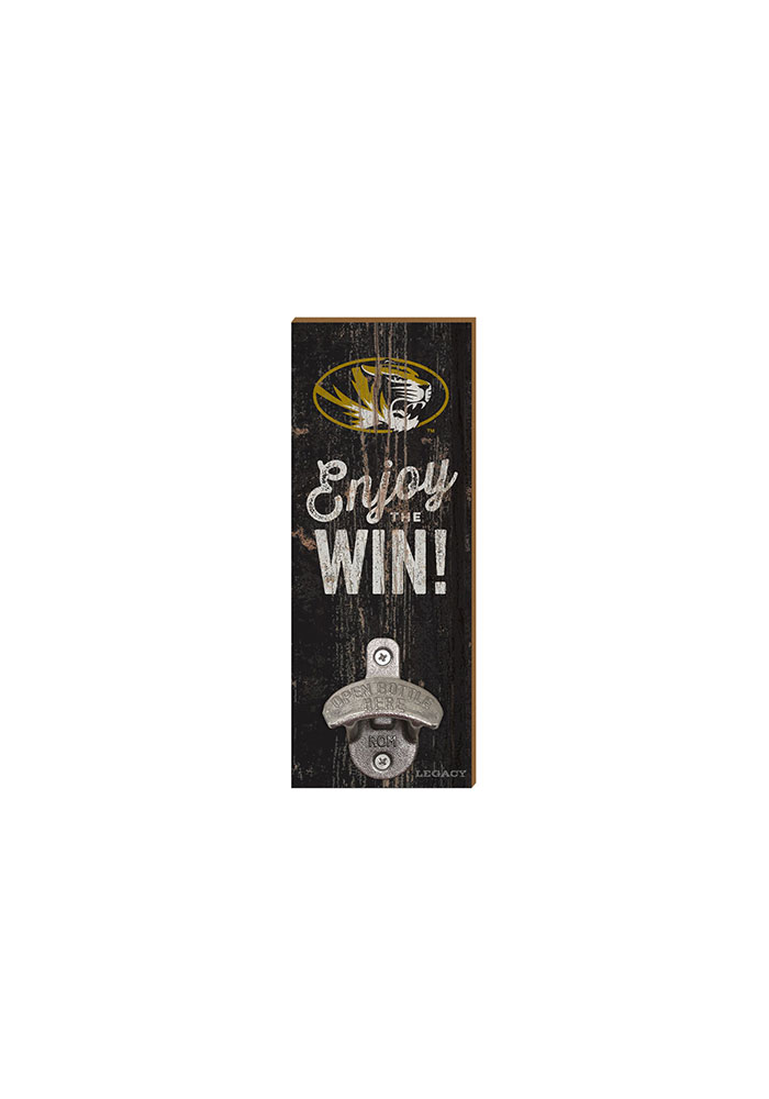 Missouri Tigers Enjoy the Win Wall Mount Bottle Opener - Image 1