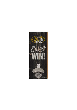 Missouri Tigers Enjoy the Win Wall Mount Bottle Opener