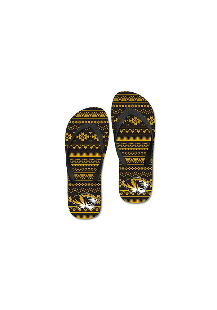Missouri Tigers Tribal Womens Flip Flops - Image 1