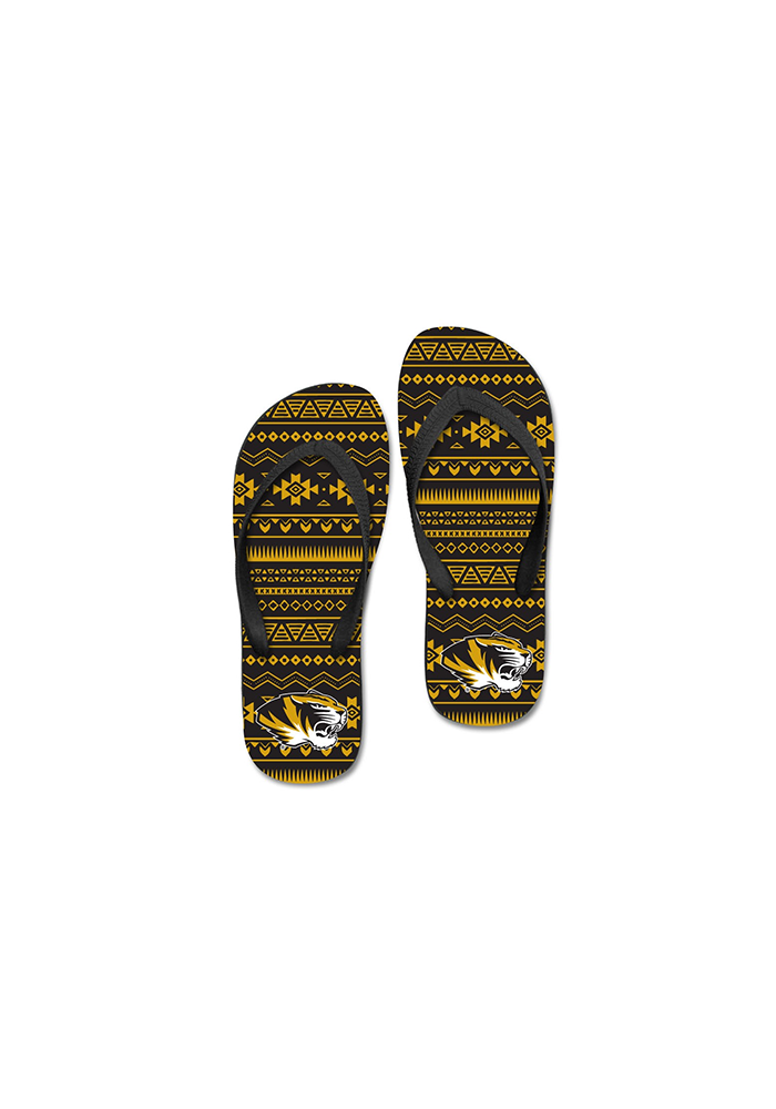 Missouri Tigers Tribal Womens Flip Flops - Image 2