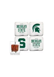 Michigan State Spartans Vintage Logo 4 Pack Tumbled Stone Picture Frame