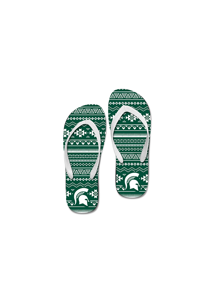 Michigan State Spartans Tribal Womens Flip Flops - Image 2