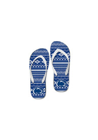 Penn State Nittany Lions Womens Tribal Fabric Flip Flops - Navy Blue