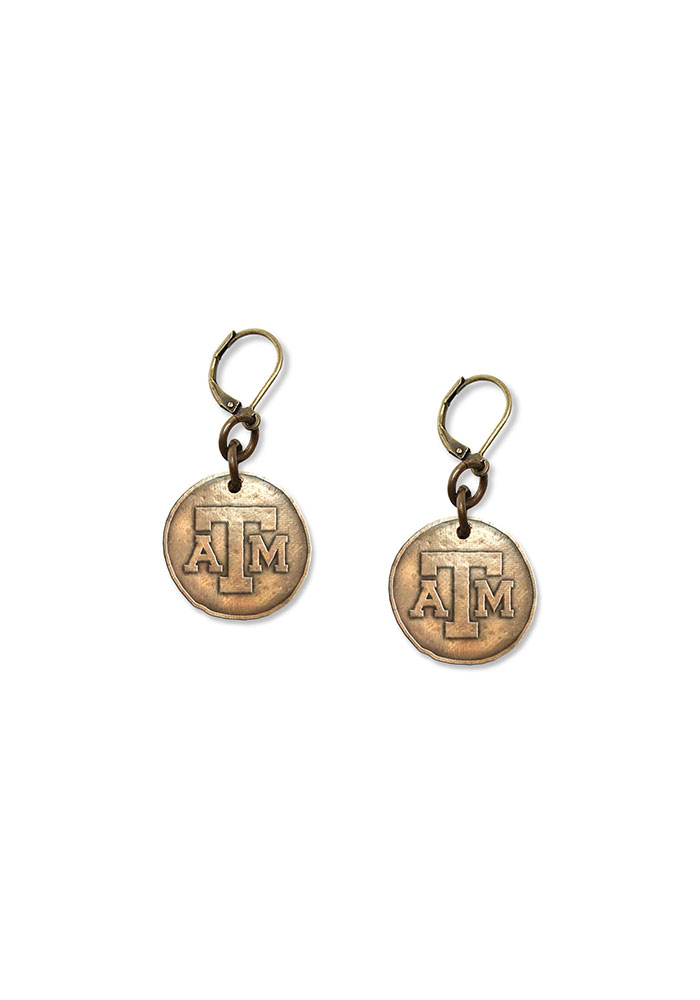 Texas A&M Antique Bronze Earrings - Image 1