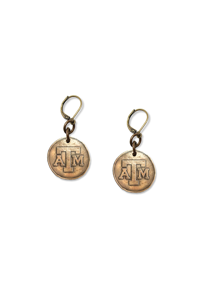 Texas A&M Antique Bronze Earrings - Image 2