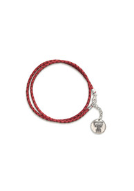 Texas Tech Red Raiders Womens Texas Tech Braided Leather Wrap Bracelet Bracelet - Red