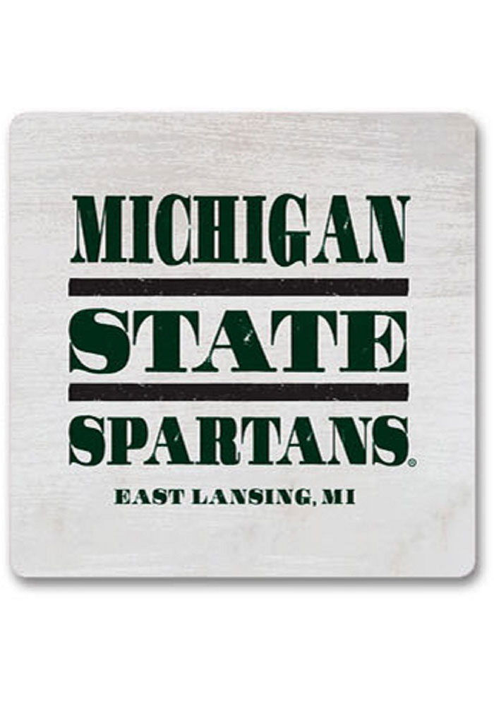Michigan State Spartans Club Wood Magnet - Image 1