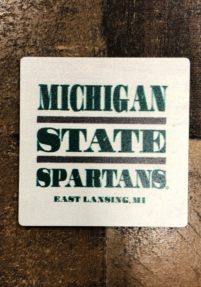 Michigan State Spartans Club Wood Magnet - Image 2