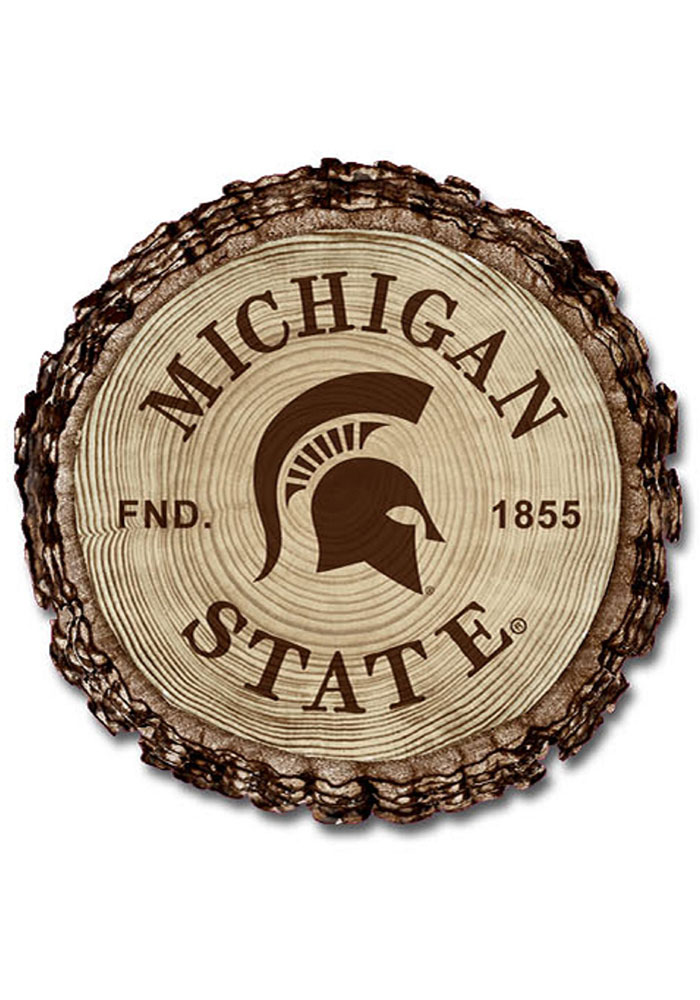 Michigan State Spartans Barky Wood Magnet - Image 1