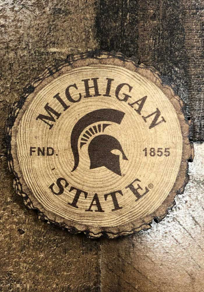 Michigan State Spartans Barky Wood Magnet - Image 2