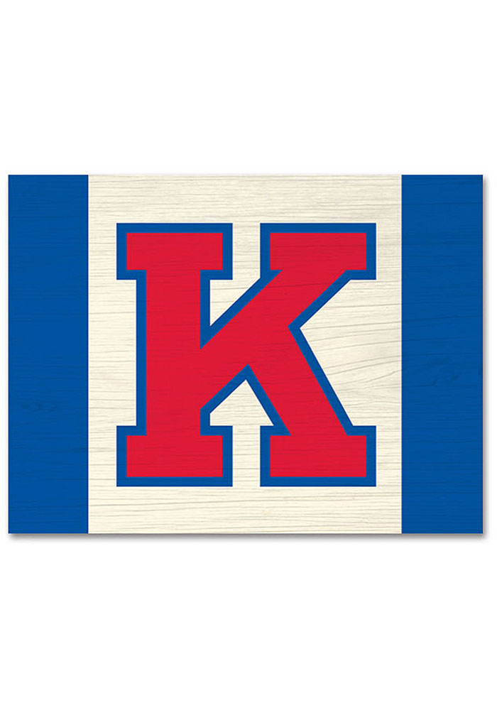 Kansas Jayhawks Large Rectangle Block Sign - Image 1