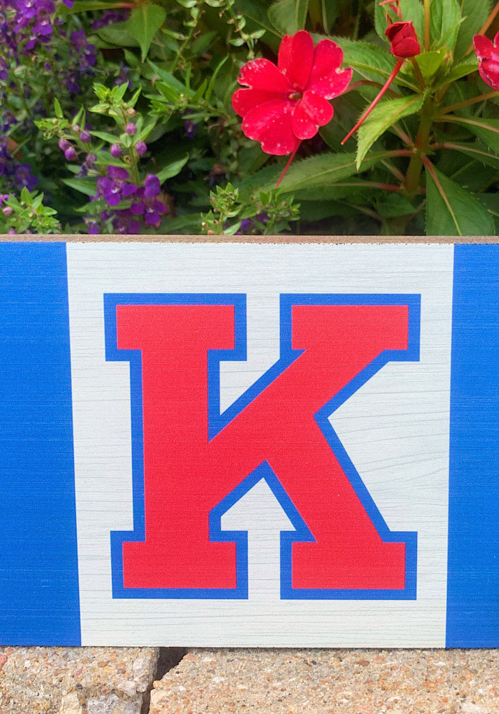 Kansas Jayhawks Large Rectangle Block Sign - Image 2