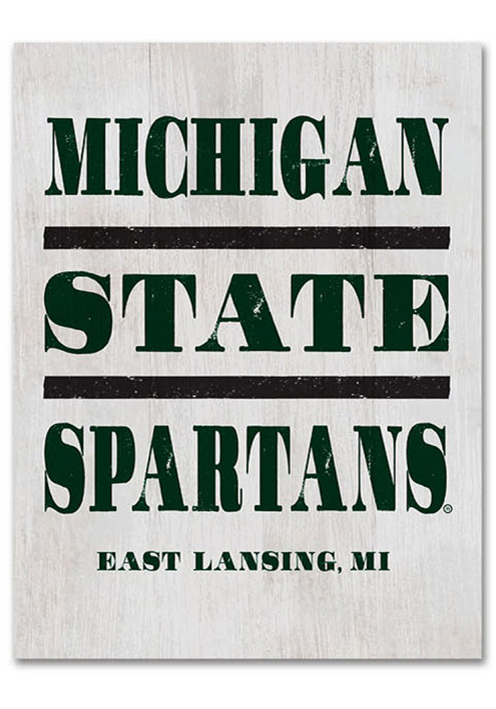 Michigan State Spartans Large Rectangle Block Sign