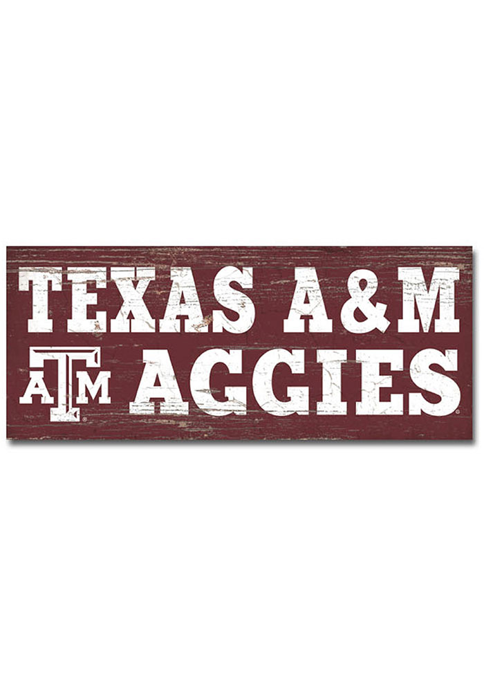Texas A&M Aggies Mini Table Top Stick Sign - Image 1