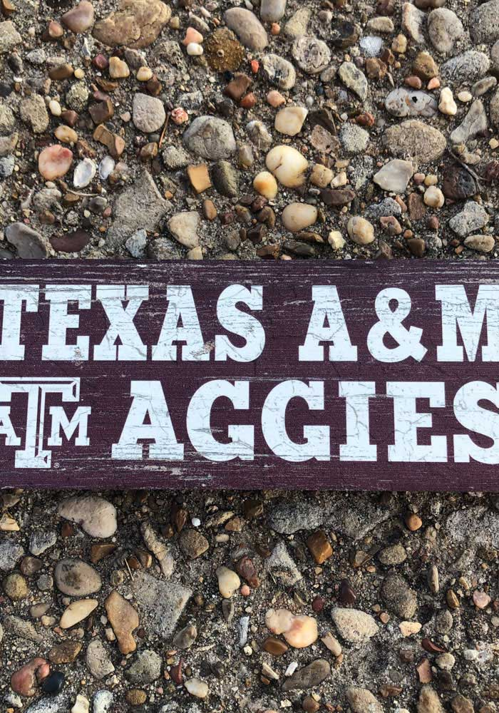 Texas A&M Aggies Mini Table Top Stick Sign - Image 2