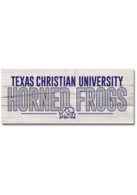 TCU Horned Frogs Mini Table Top Stick Sign