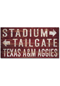 Texas A&M Aggies Plank Sign Sign