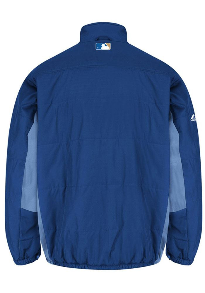 Majestic Kansas City Royals Mens Blue On-Field Double Climate Heavyweight Jacket - Image 2