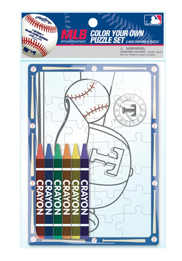 Texas Rangers Color You Own Puzzle Children's Book - Image 1
