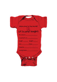 Rutgers Scarlet Knights Baby Red Keepsake One Piece