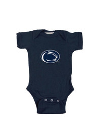 Penn State Nittany Lions Baby Navy Blue Embroidered Logo One Piece