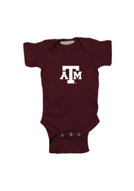 Texas A&M Aggies Baby Maroon Embroidered Logo One Piece