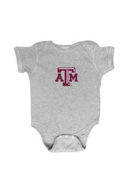 Texas A&M Aggies Baby Grey Embroidered Logo One Piece