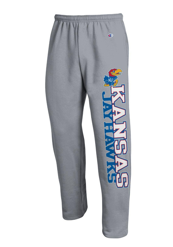 Champion Kansas Jayhawks Mens Grey Kansas Sweatpants - Image 1