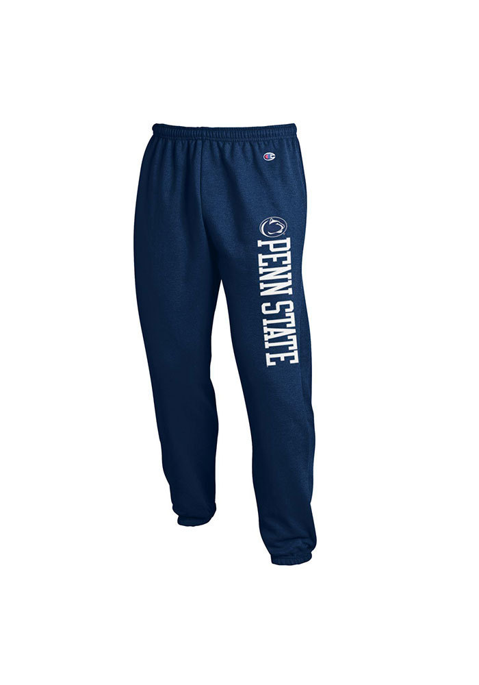 Champion Penn State Nittany Lions Mens Navy Blue Open Bottom Sweatpants - Image 1
