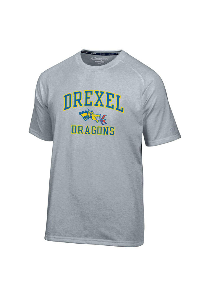 Champion Drexel Dragons Grey Arch Short Sleeve T Shirt - Image 1