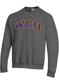 West Chester Golden Rams Champion Twill Crew Sweatshirt - Charcoal