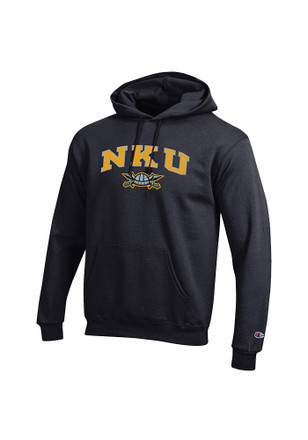 Champion Northern Kentucky Norse Mens Black Mascot Hoodie