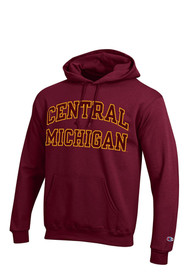 Central Michigan Chippewas Champion Arch Hooded Sweatshirt - Maroon