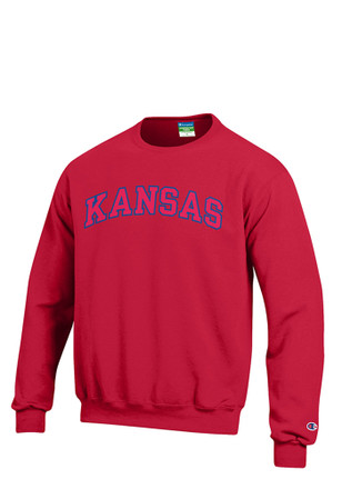 Kansas Jayhawks Mens Red Arch Sweatshirt