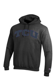 TCU Horned Frogs Champion Arch Hooded Sweatshirt - Charcoal