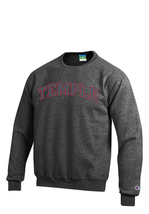 Temple Owls Mens Grey Arch Sweatshirt