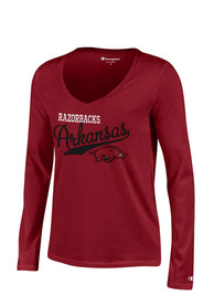 Arkansas Razorbacks Juniors Cardinal Campus Script T-Shirt