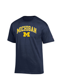Champion Michigan Wolverines Navy Blue Arch Mascot Tee