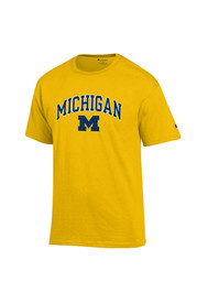 8a274277cc32a9 Champion Michigan Wolverines Yellow Arch Mascot Tee. Champion Michigan  Wolverines Navy Blue ...