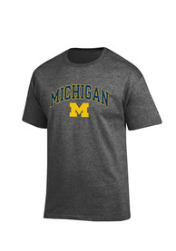 Champion Michigan Wolverines Charcoal Arch Mascot Tee