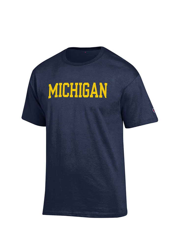 Champion Michigan Wolverines Navy Blue Rally Loud Short Sleeve T Shirt - Image 1