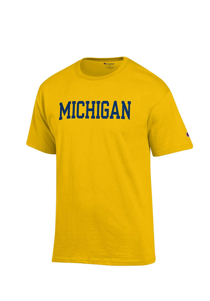 Champion Michigan Wolverines Yellow Rally Loud Short Sleeve T Shirt - Image 1